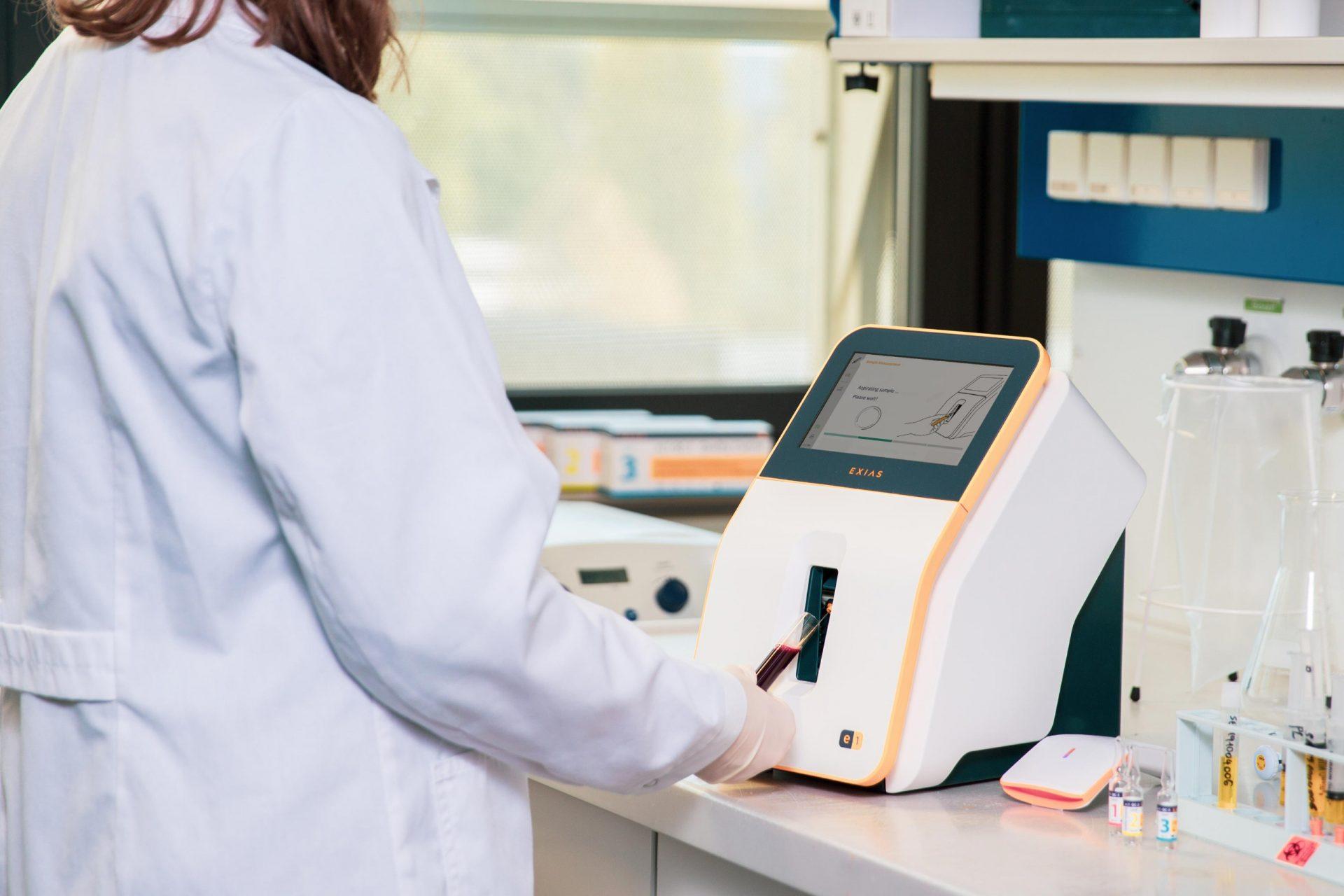 Electrolyte Analyzer in use